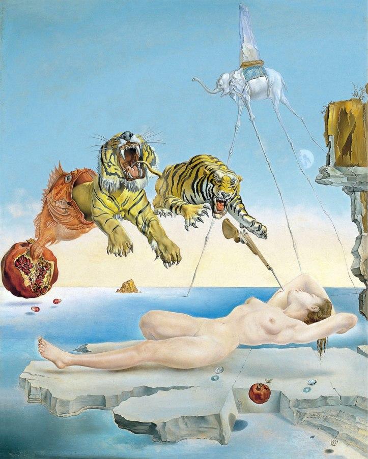 Sogno-causato-dal-volo-di-unape-intorno-a-una-melagrana-un-attimo-prima-del-risveglio-di-Salvador-Dalí